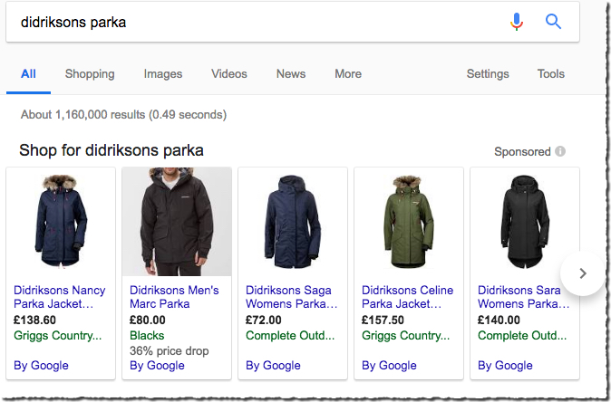 Google Shopping ad - novel.