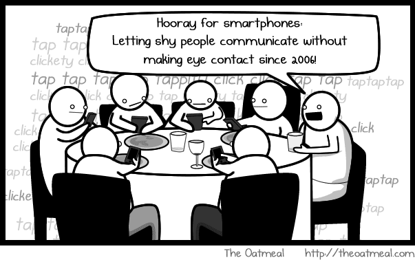 Smartphones and social media - making us anti-social?