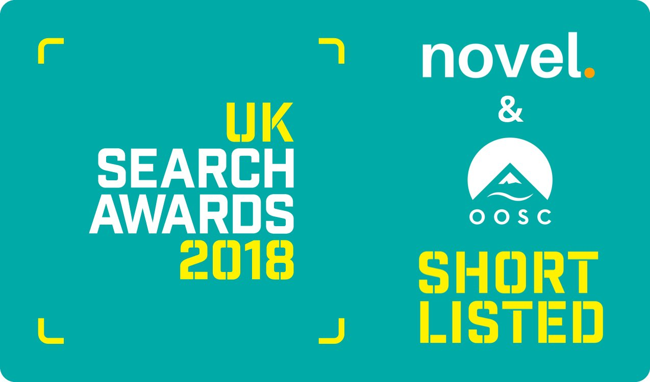 Shortlisted for Best Low Budget Campaign - UK Search Awards - novel, OOSC