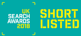 novel shortlisted at the UK Search Awards 2018 for SEO work
