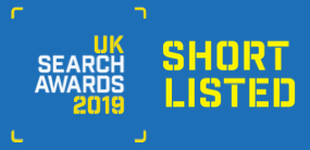 novel shortlisted at the UK Search Awards 2019