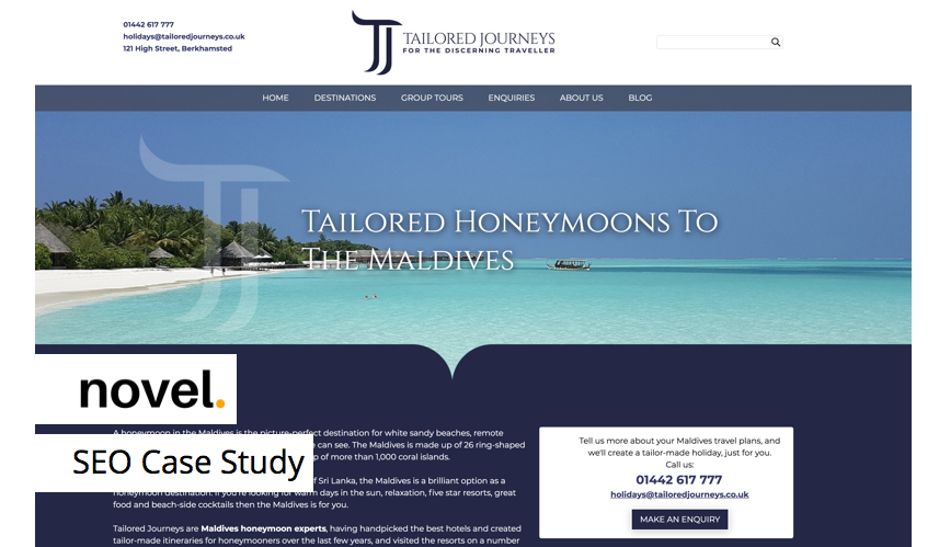 Tailored Journeys - SEO