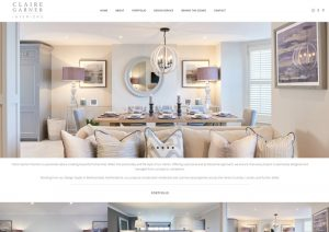 Claire Garner Interiors - Website Design