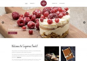 Saporous Foods - Web Design