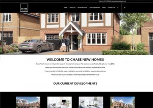 Chase New Homes - new website