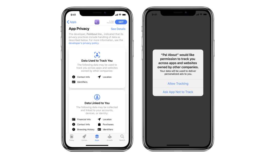 Example Opt-Out Pop Up in iOS14